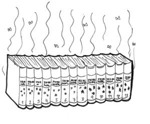 Illustrasjon av papirleksikonet som lukter vondt